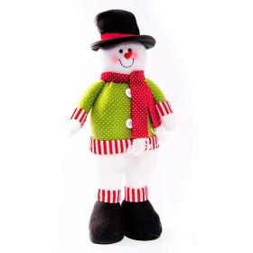 NAVIDAD Muñeco de Nieve parado de 18 cm