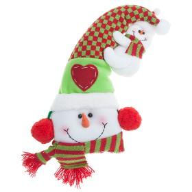 NAVIDAD Muñeco de Nieve con Sombrero de 15 cm