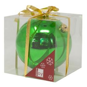 NAVIDAD Esfera Verde de 15 cm