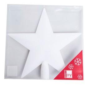 NAVIDAD Estrella para Tope de Arbol de 20 cm Blanca