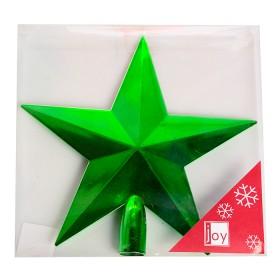NAVIDAD Estrella para Tope de Arbol de 20 cm Verde