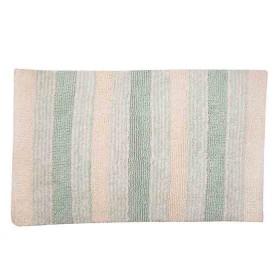Tapete de Baño FREEHOME 50 x 80 Rayas Verde/Beige