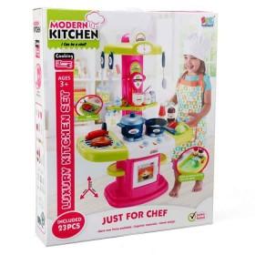 SFL Set luxury kitchen niñas fucsia-verde