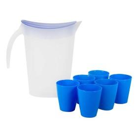 Set FREE HOME Jarra 2 Litros + 6 Vasos Azul
