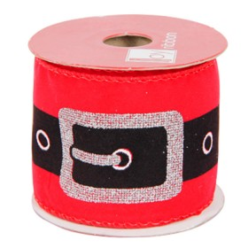 Rollo Cinta Cinturon Santa 6 Cms. X 4.5 Metros