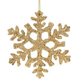 Colgante Copo Nieve Oro