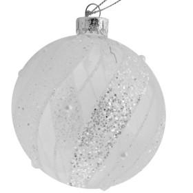 Esfera Cristal Gliterado Blanco