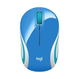 Mouse Mini Inalámbrico LOGITECH M187 Azul