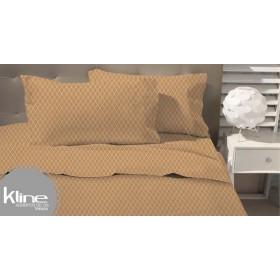 Juego de cama K LINE Extradoble estampado 180 Hilos Apricot