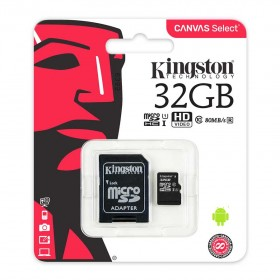 Memoria Micro SD KINGSTON 32GB + Adaptador Cl10