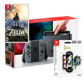 Consola SWITCH Gris + videojuego Zelda + Obsequio