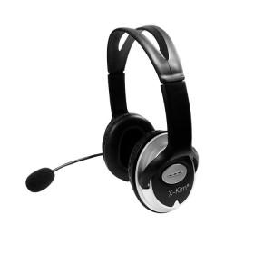 Diadema / Microfono X-KIM OnEar Alambrico USB Negro