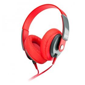 Audífonos KLIP XTREME Alámbrico OnEar M/ClVol Rojo