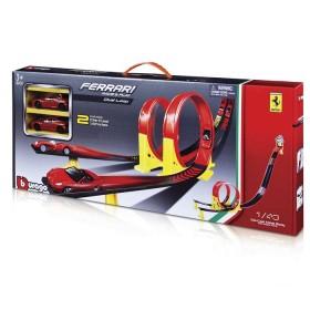 BBURAGO Pista Ferrari dual loop Rojo