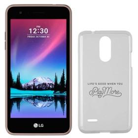 Celular Libre LG K4 (2017) DS 4G Cafe + Estuche Jelly Case