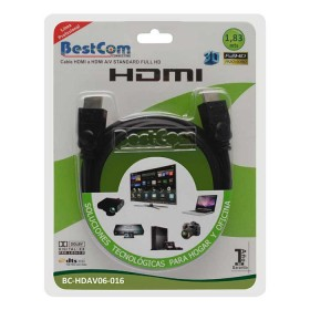 Cable HDMI/HDMI Full HD BESTCOM Video/Audio de Alta Definición 1.83 MT