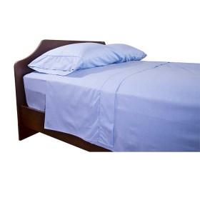 Sábana Ajustable K-LINE King Sesgo Azul 144 hilos