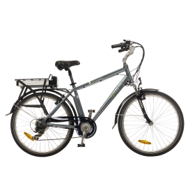 bicicleta E-CITY Maverik 350W Gris