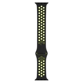 Banda Nike Sport negra/voltio (42 mm) – Tallas S/M y M/L (Band Sport Nike Black/Volt)