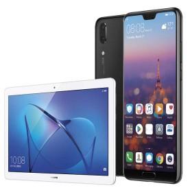 "Kit HUAWEI Celular Libre P20 Negro DS 4G + Tablet 10"" Blanca"
