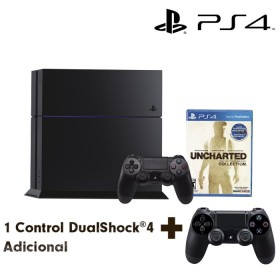 Bundle PS4 500GB Uncharted: The Nathan Drake Collection + 2 Dualshock4