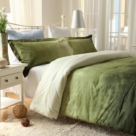 Comforter K-LINE Doble Tie Die Verde Algodón 100%