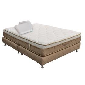 KOMBO ROMANCE RELAX: Colchón 100 x 190 Velvet + Base Cama Sencilla + Almohada