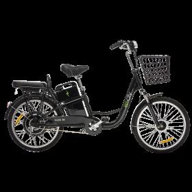 Bicicleta Eléctrica e-city Negra 350W PT