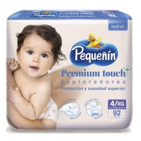Pañal PEQUEÑIN Premium Touch Etapa 4 x 92 unidades