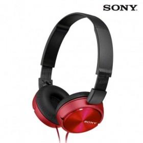Audífonos SONY de diadema MDR-ZX310 rojos con manos libres y almohadillas