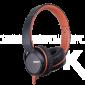 Audífono SONY Alámbrico On Ear 660 Naranja