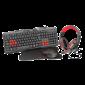 Combo Alambrico Mouse + Audifono + Teclado + Pad Mouse Trust  Gaming