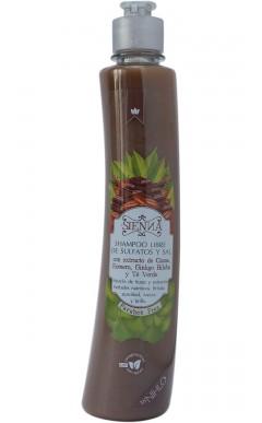 Shampoo con extracto de Cacao, Romero, Gingko Biloba y Té Verde.