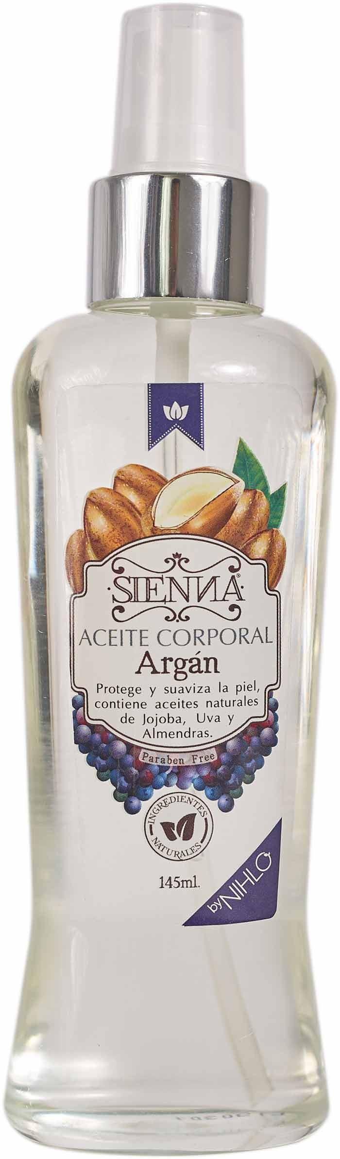 Aceite Corporal ARGAN Sienna x 140