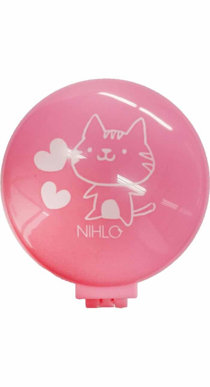 Cepillo espejo gatico rosa