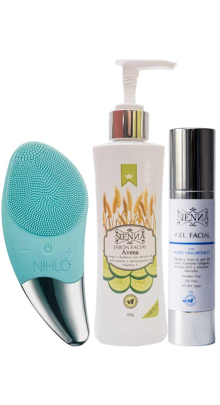 KIT CEPILLO + JABÓN + GEL FACIAL