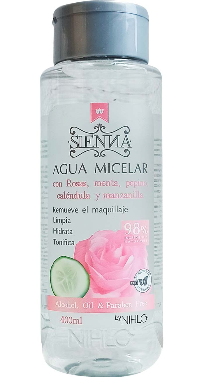 Agua Micelar Rosas Sienna 400ml
