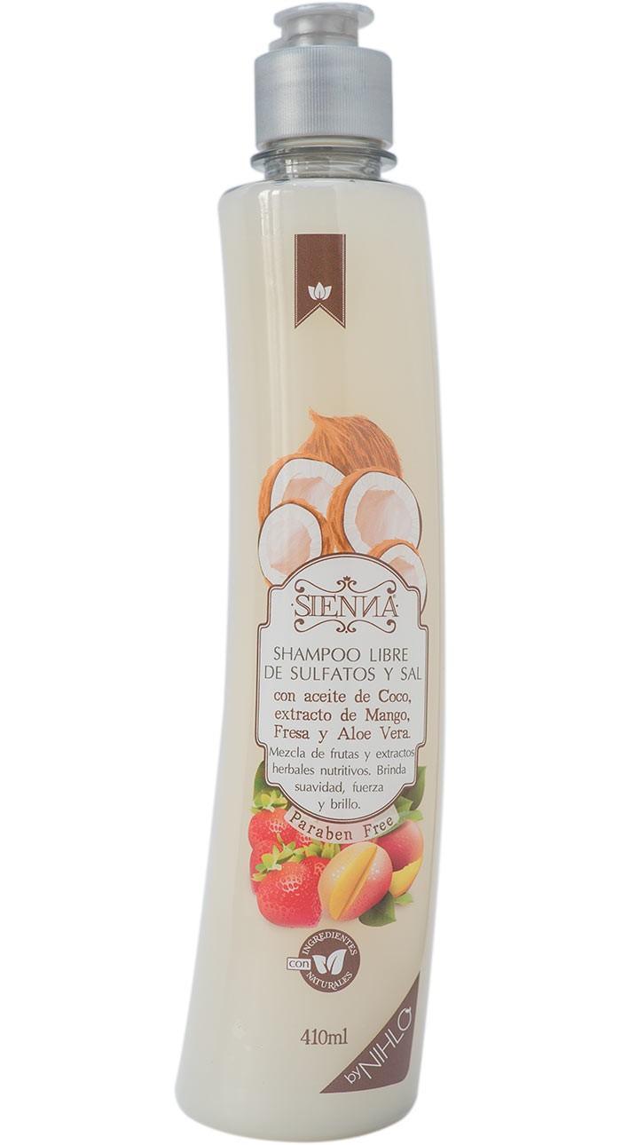 Shampoo con Aceite de Coco y extracto de Mango y fresa