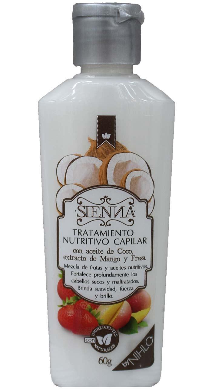 Tratamiento nutritivo capilar con Aceite de coco, extracto de mango y fresa. 60g