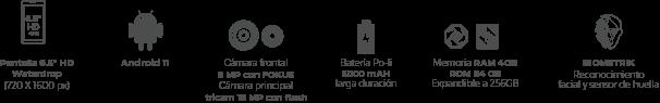 Kalley Black G Smarthphone medidas