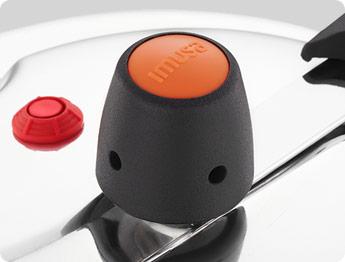 Válvula de presión de 2 posicines para darle más seguridad a la olla