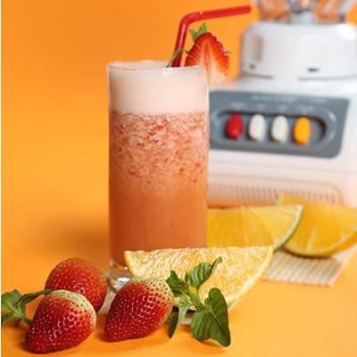 Receta Kalley para batido de fresa y naranja