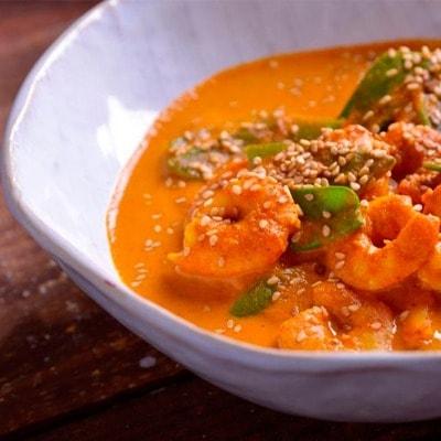 Receta Kalley para langostinos al curry