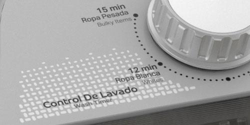 Lavadora Acros 7501545637353 Panel de control.