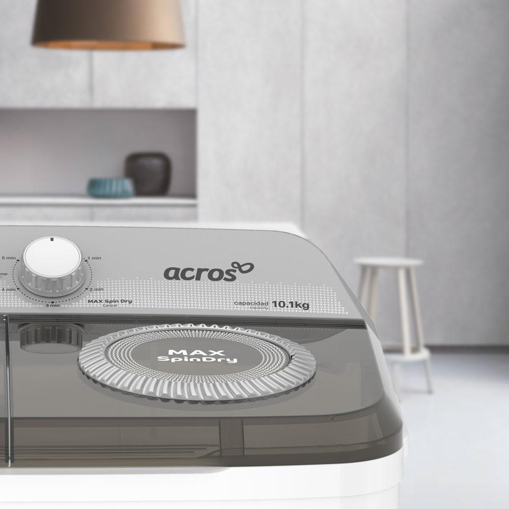 Aspecto que se adapta a tu hogar con la lavadora de dos tinas Acros 7501545637353.