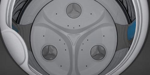 Lavadora Whirlpool 7709745466913 Tina de acero inoxidable y medidor Smart Load al interior.