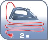 cable de la plancha de 1.8 metos