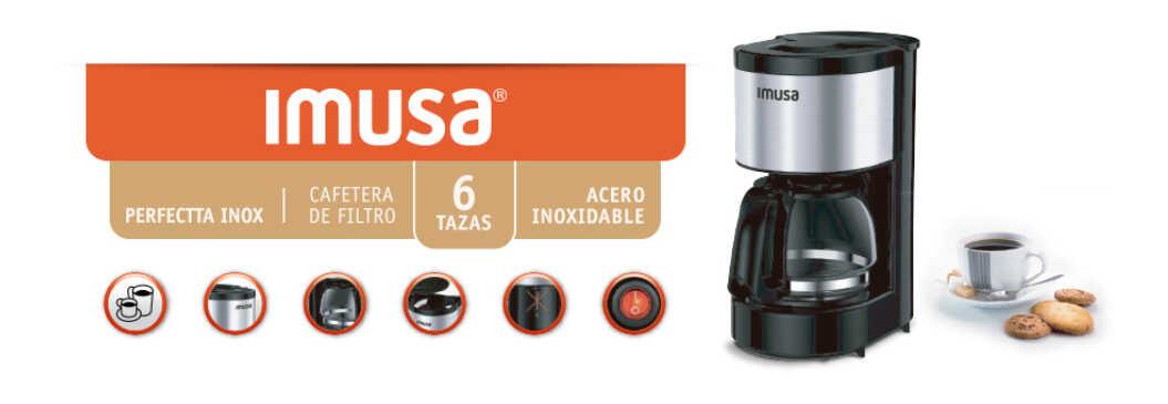 Cafetera Imusa Perfectta Inox 6 Tazas con Filtro