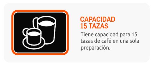 15 tazas de café en una sola preparación.