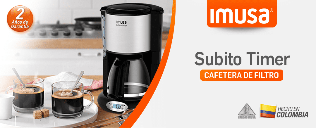 Cafetera Imusa Subito Timer 15 Tazas Programable